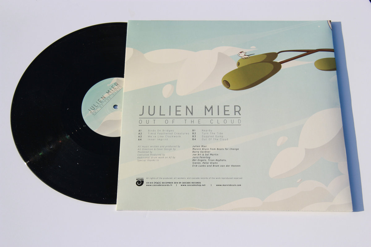 Julien Mier - Out Of The Cloud Chillout electronic ambiant beats vinyl back cover