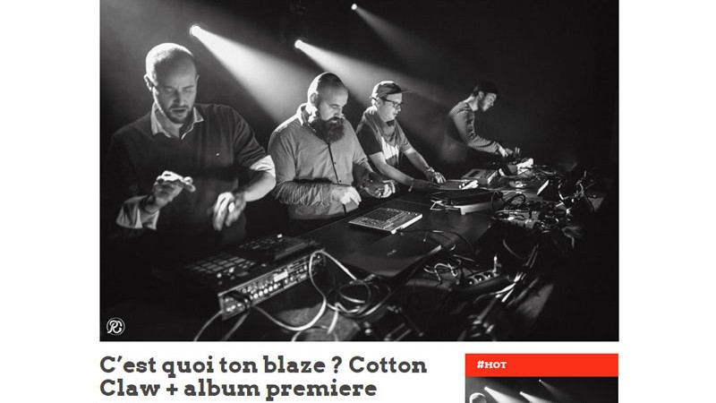 Trax magazine avec Cotton Claw - house , bass, electronic music