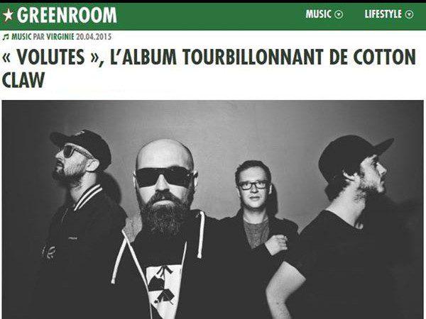 Green Room : Volutes , l'album tourbillonnant de Cotton Claw , electronic Music, bass house