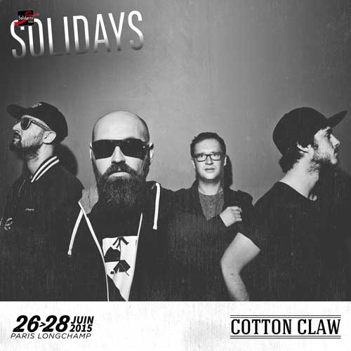 Cotton Claw au festival Solidays Paris avec Caribou, Rone & Moriarty, Yelle