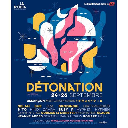 Détonation Festival 2015 - Rodia Besançon - Brodinski, Cotton Claw, Sela Sue et Pedro Winter