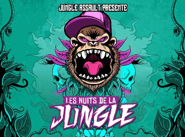 JUNGLE ASSAULT vous convie du 22 au 24 octobre 2015 aux NUITS DE LA JUNGLE pour 3 grosses soirées BASS MUSIC avec Cotton Claw, KATUCHAT