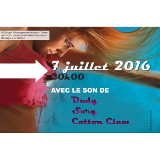 Summer Warm Up avec Cotton Claw + Sorg + Dude - concert electro musique