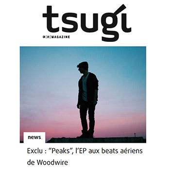 Tsugi Exclu : en écoute le nouvel EP de Woodwire 'Peaks' - ambient, chill, future beats music