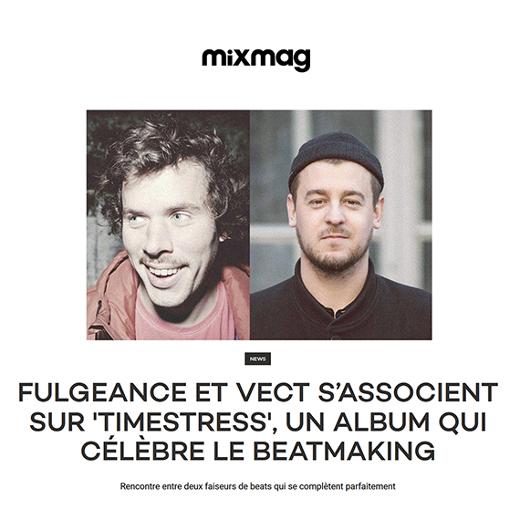 Mixmag : Fulgeance & VECT- Timestress (Exclusive Album Stream) - electo disco funk music beatmakers