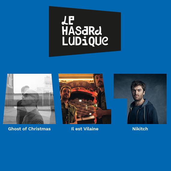 Nikitch sera en concert avec Ghost of Christmas et Il est Vilaine le jeudi 7 décembre 2017 20h00 au Hasard Ludique à Paris.