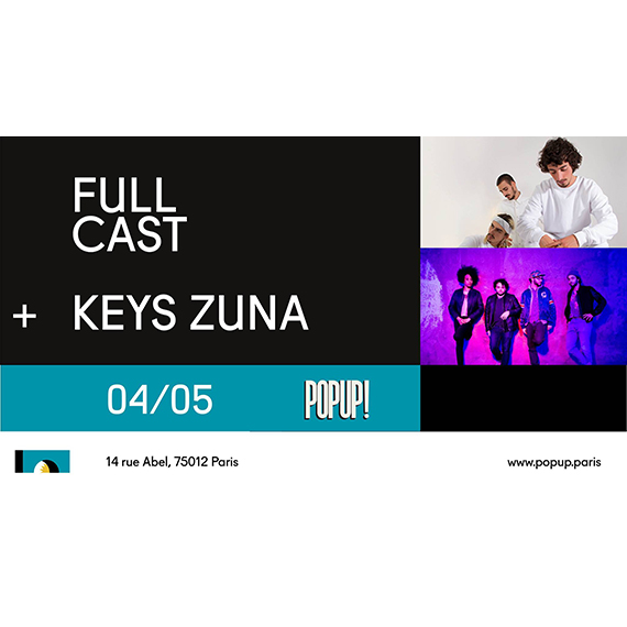Keys Zuna + Full Cast au Pop-Up ! | Live Hip hop soul - Cascade Records