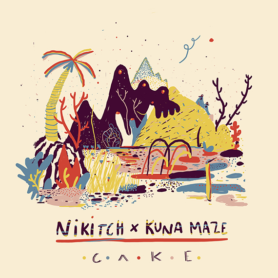 Nikitch & Kuna Maze new EP Cake cover - chill hip hop electronic music jazz footwork