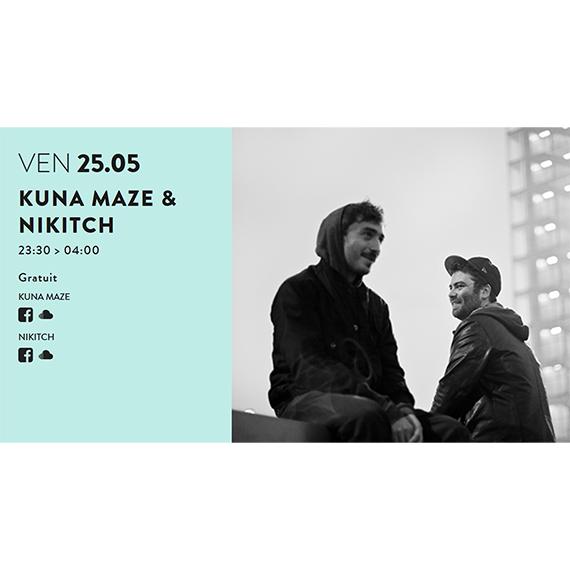 Le duo de producteurs chill electronic music Kuna Maze & Nikitch seront en live au Groom à Lyon le 25 mai au Groom à Lyon