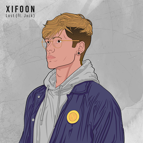 Xifoon - Lost (ft. Jxck) (SINGLE) artwork - hiphop, ambient, future garage, dubstep