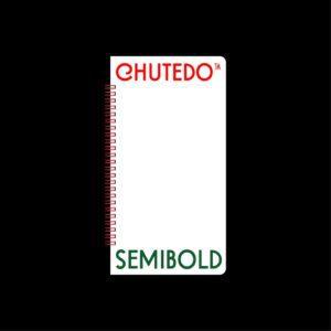 "Cascade Records X Bakélite :""Chutedo"" typography"