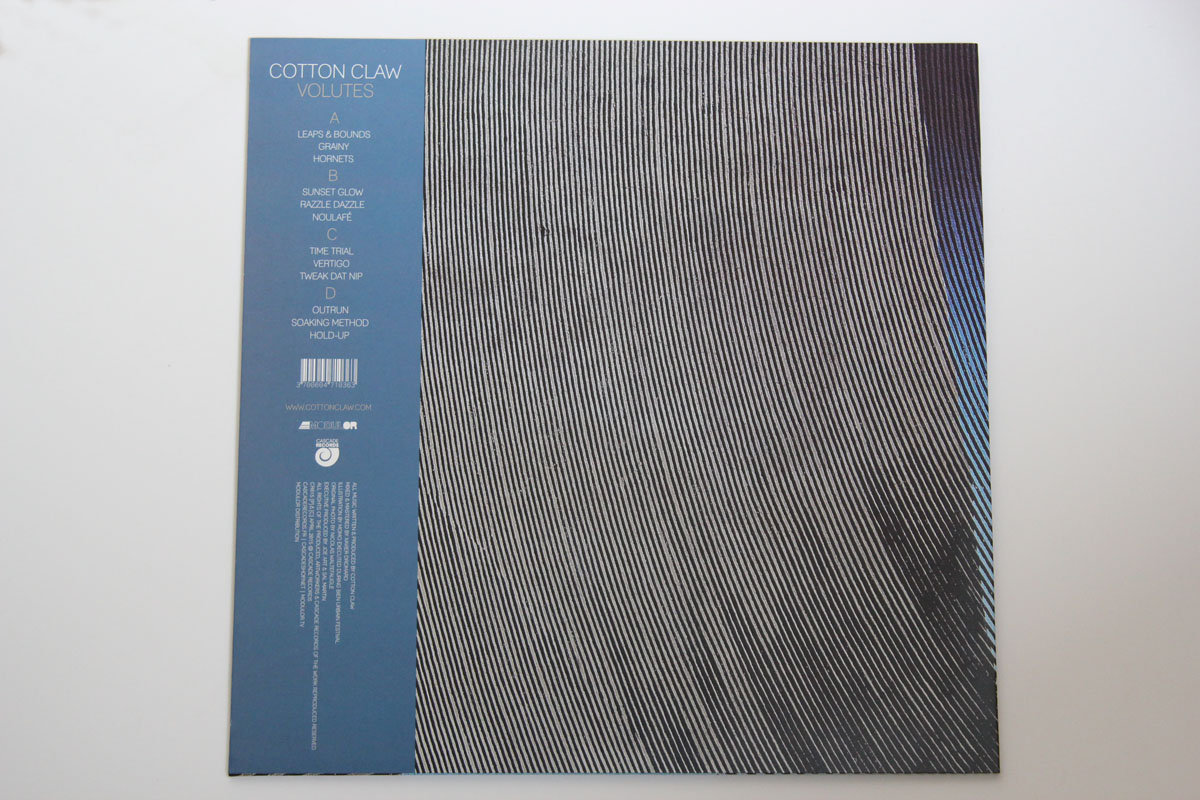Cotton Claw - Volutes - electronic music house chill-out vinyl back cover